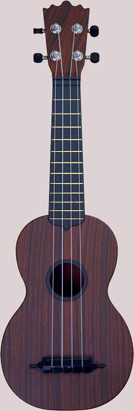 Woodi faux wood plastic soprano ukulele