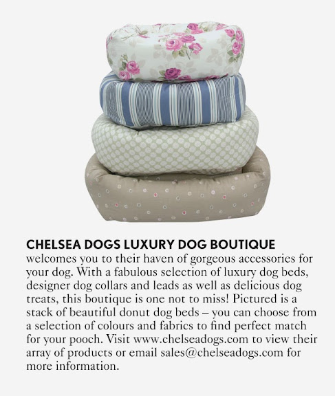 Luxury Donut Dog Beds Chelsea Dogs Featured in Vogue Magazine 2012
