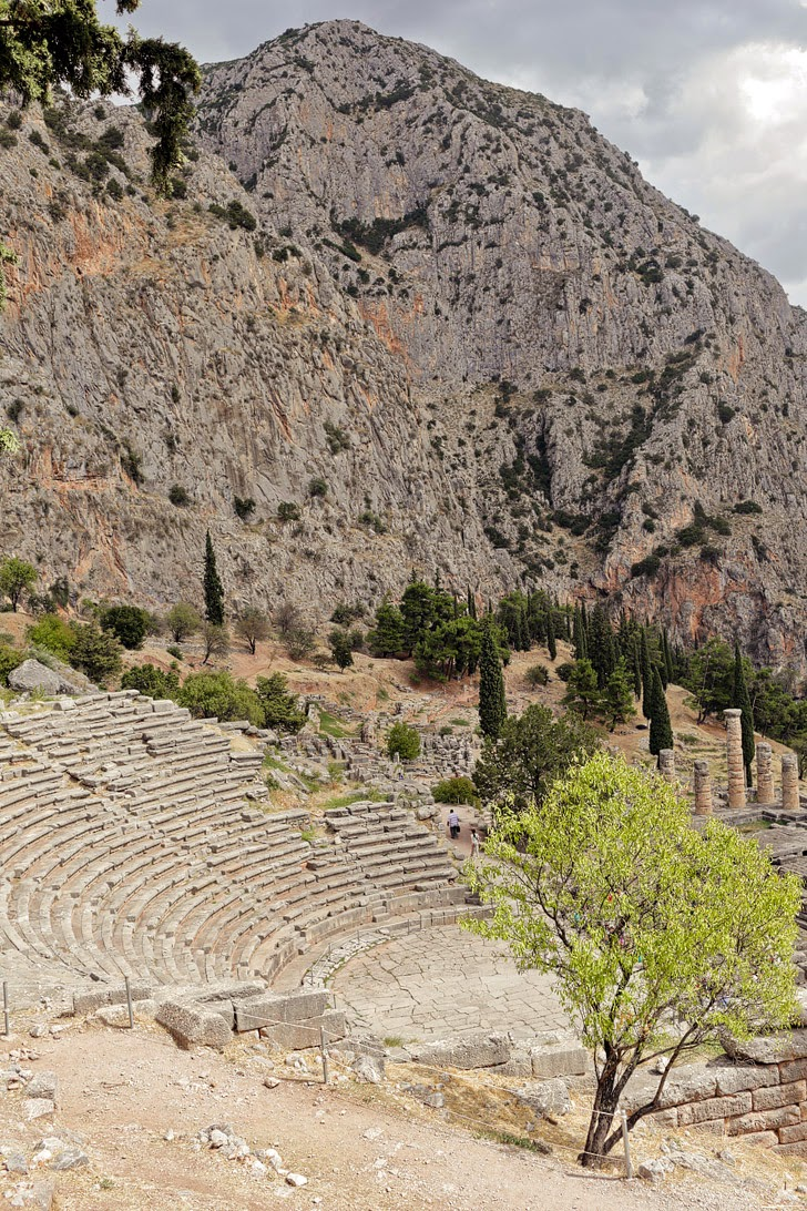 Theater at Delphi Greece.