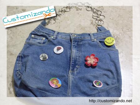 Transformando uma calça jeans em bolsa