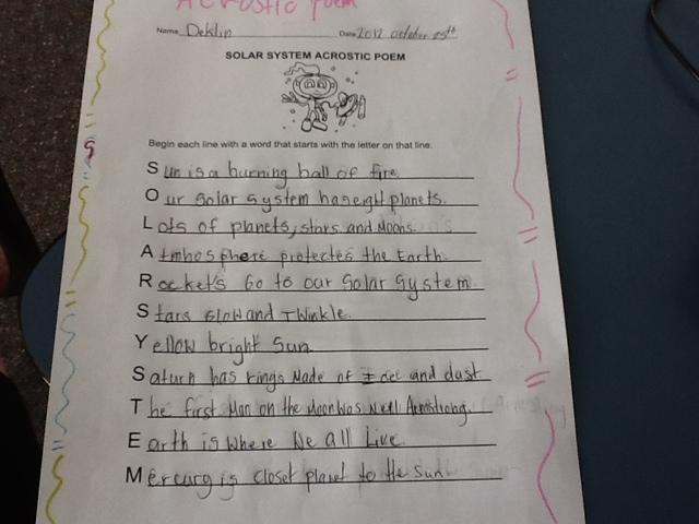 solar system acrostic poem -#main