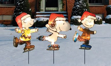 3 each product works peanuts lighted pathway markers 90526 - Christmas Pathway Decorations