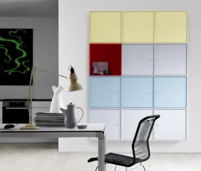 minimalist colorful furniture for home and office 3 554x472 Rak Dan Laci Modular Minimalis Yang Berwarna Warni