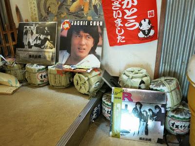 昔懐かしいレコードジャケット。ジャッキー・チェンと横浜銀蝿