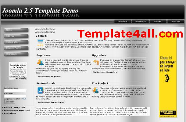 Free Abstract Black Vista Joomla Theme Template