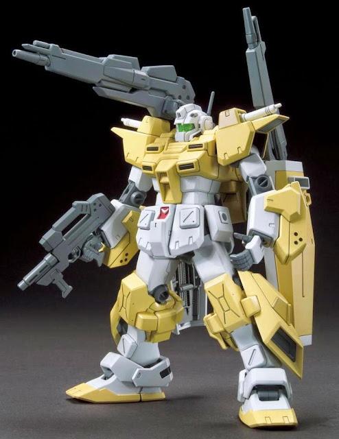 Đồ chơi Mô hình Gundam Powered GM Cardigan HGBF tỷ lệ 1/144 hoàn thành cao khoảng 13 cm