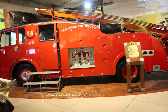 A semi modern fire engine