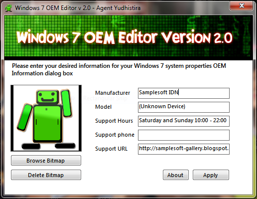 Windows 7 Windows 7 OEM Editor 2.0 full