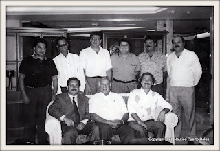 Miembros de la primera Junta Directiva del Club Náutico Puerto Colón