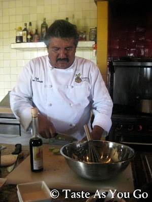 Making Vinaigrette for the Los Tamarindos Salad at Los Tamarindos in Los Cabos, Mexico - Photo by Taste As You Go
