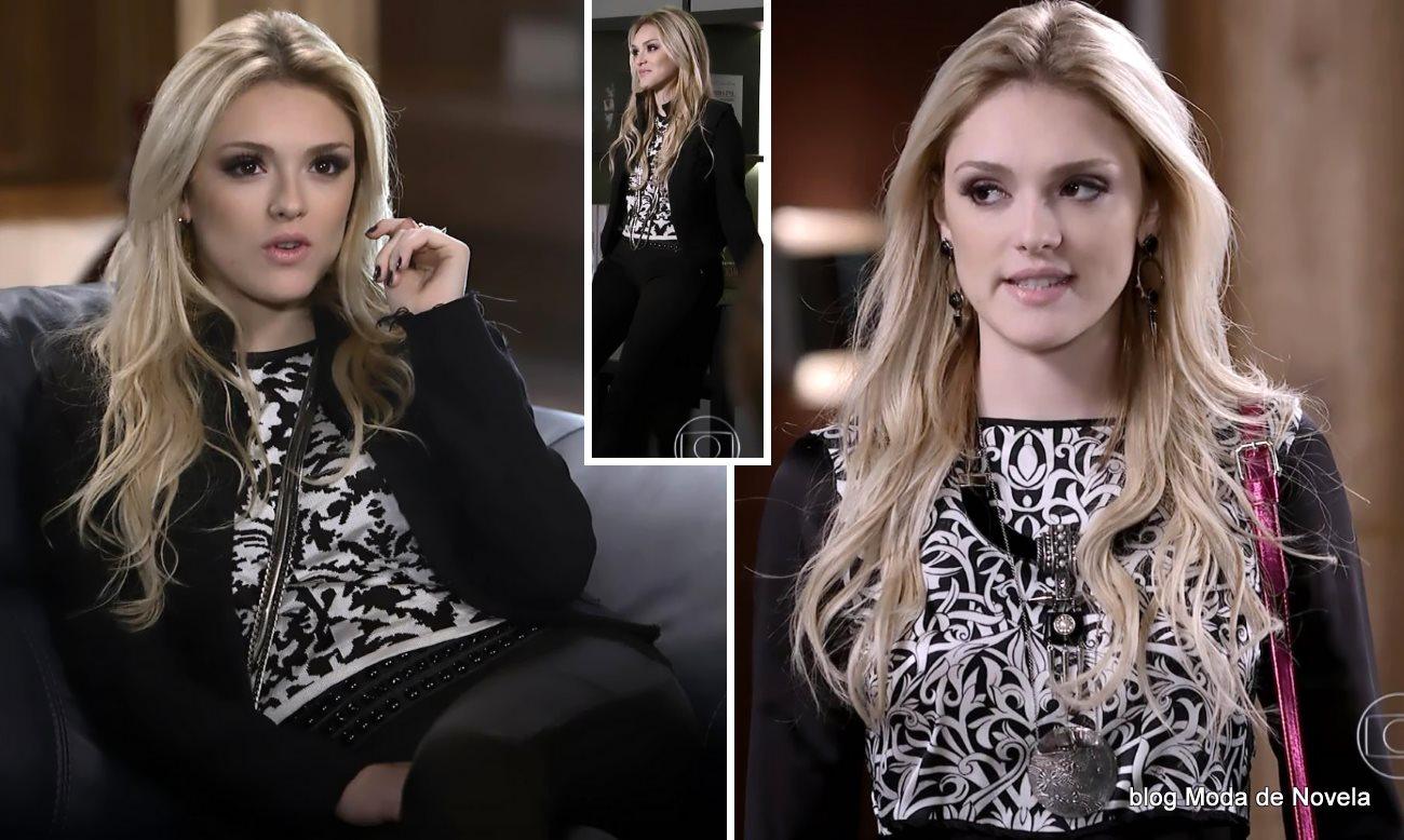 moda da novela Geração Brasil - look da Megan dia 30 de julho
