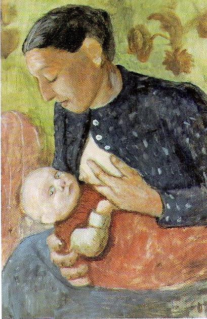 Paula Modersohn-Becker - Stillende Mutter, 1902
