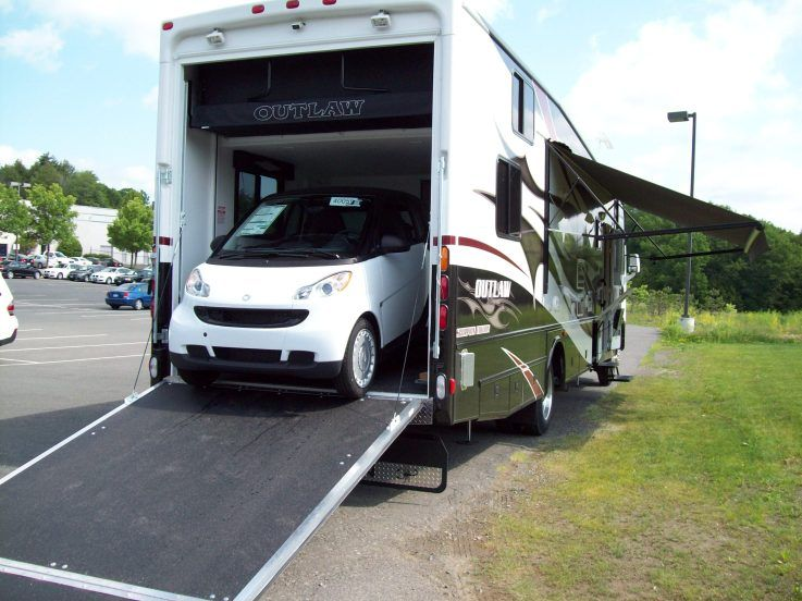 Samsebeskazal for Class a rv with car garage