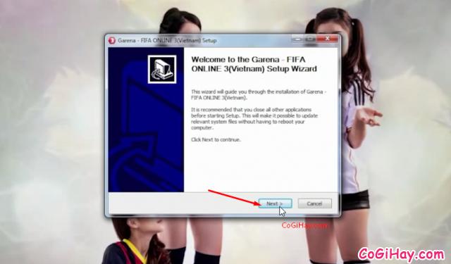 tiến hành cài đặt fifa online 3