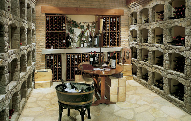 Hendrix Allardyce Designs Created This Stunning Wine Cellar Out Of