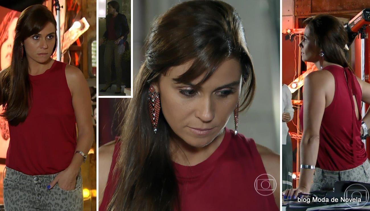 moda da novela Em Família - look da Clara no dia 19 de abril