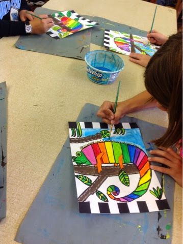 Color it like you mean it 4th grade chameleons for 4th grade craft projects