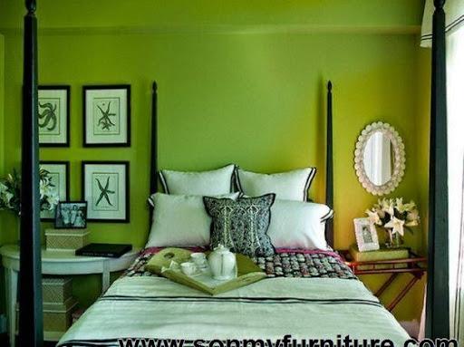 Thiết kế nội thất phòng ngủ với gam màu xanh tươi mát_CONG TY NOI THAT-6