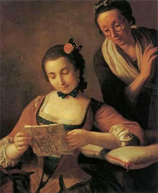 Pietro Antonio Rotari - Junge und alte Frau beim Lesen eines Briefes