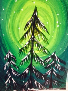 Grade 4 Studied The Concept Of Monochromatic Colors Using Acrylic Paint Beautiful Winter Paintings