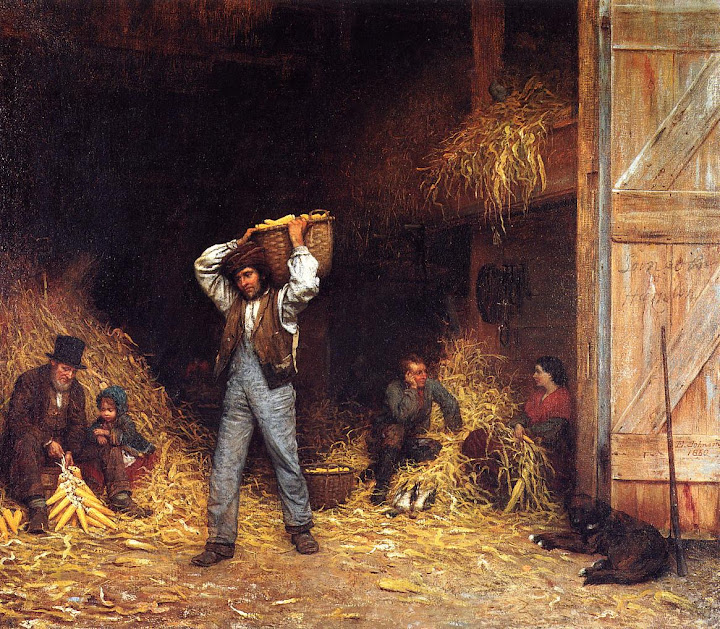Eastman Johnson - Corn Husking
