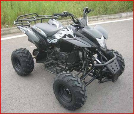 150cc Automatic Black Sports Quad - Elstar Camel 150