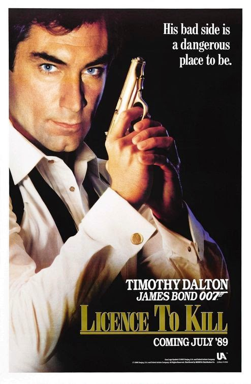 Poster Of Licence to Kill (1989) Full Movie Hindi Dubbed Free Download Watch Online At Alldownloads4u.Com