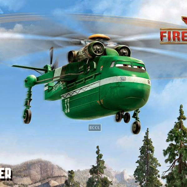 A still from the Hollywood animation film Planes: Fire & Rescue.