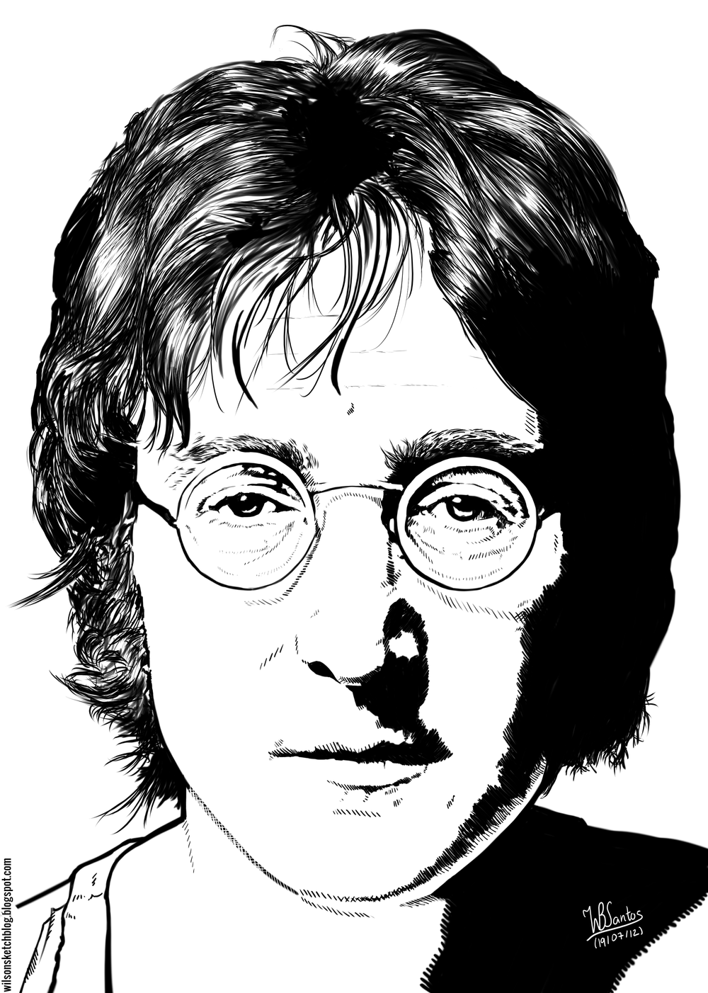 Line Drawing John Lennon : Images about lennon john on pinterest