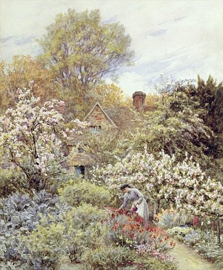 Helen Allingham - A Garden in Spring