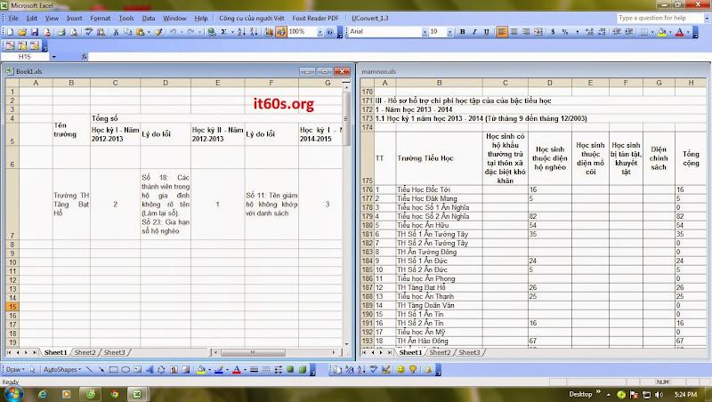 Cách tùy chỉnh cửa sổ làm việc của bảng tính Excel 7