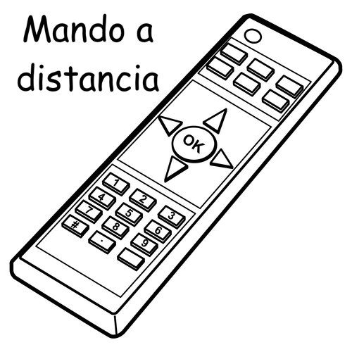 remote control in spanish free coloring pages
