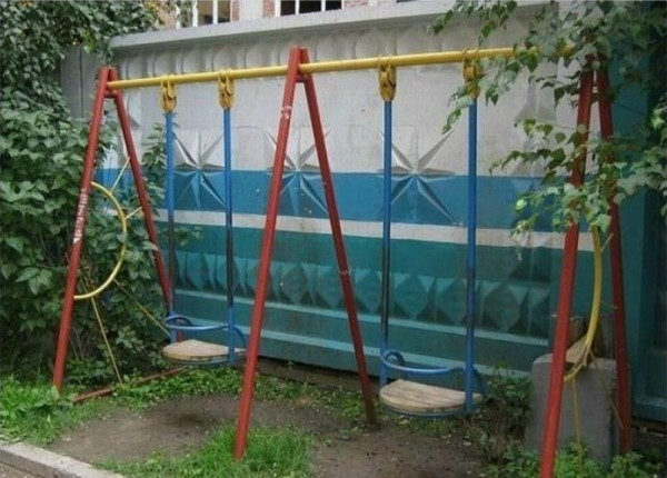 Backyard Playground Swing Fail