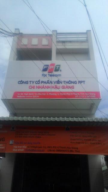 Văn Phòng Chi Nhánh Công Ty FPT Telecom Hậu Giang