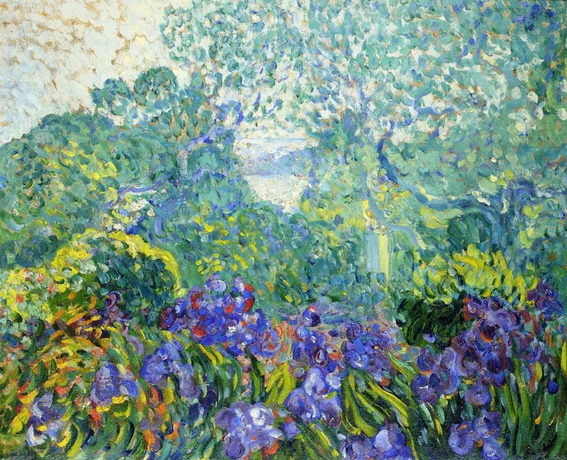 Louis Valtat - Landscape with Violet Irises