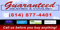 Grove City Heating and Cooling Guaranteed Heating & Cooling Logo