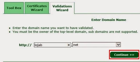 Escolher dominio