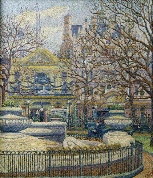 Charles Ginner - Leicester Square, London
