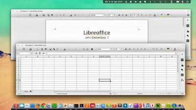 Writer Calc LibreOffice elementary OS