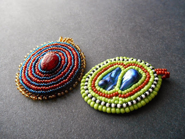 Bead Embroidery Medallions
