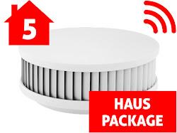 5-er Set PX-1C Rauchwarnmelder mit integrierten Funkmodulen