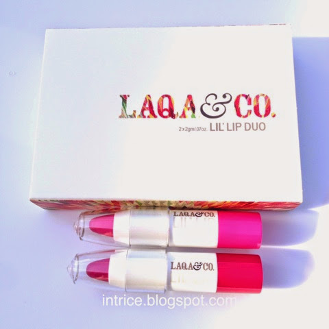 Laqa and Co. Lil Lip Duo Crayons - Pinkman and Lambchop - photo credit: intrice.blogspot.com