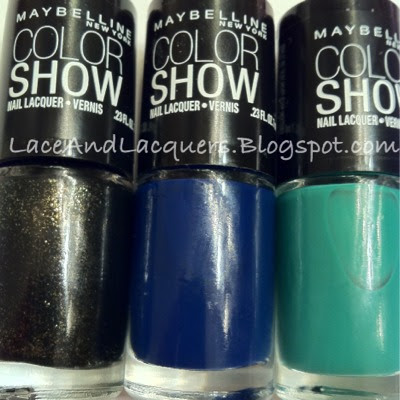 Lace and Lacquers: MAYBELLINE COLOR SHOW Haul [Sapphire Siren ...