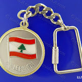 (لبنانيات: علم لبنان (2 Lebanese Icons: Lebanese Flag Size: 35 mm