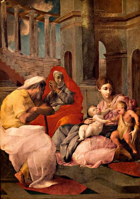 Francesco Primaticcio - Holy Family with St Elizabeth and John the Baptist