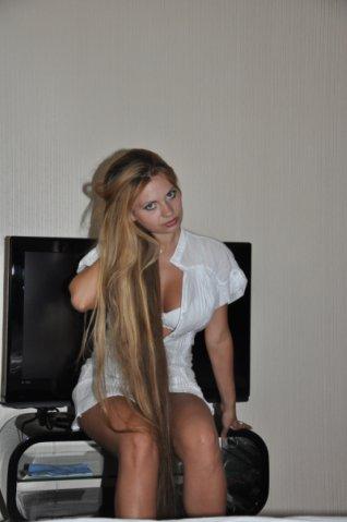 Blonde girl with long hair Elite Model