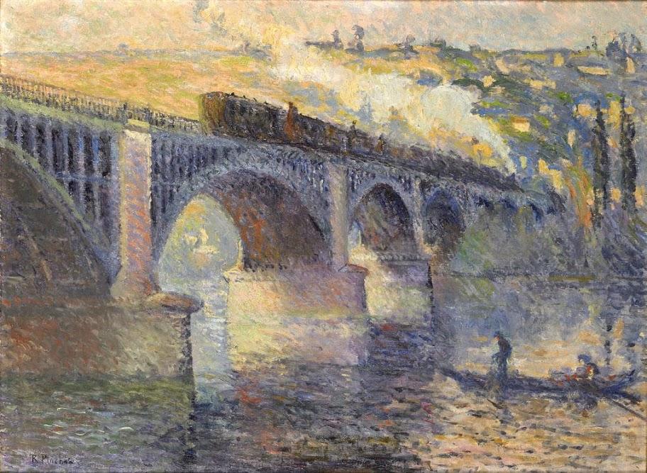 Robert Antoine Pinchon - Le Pont aux Anglais, soleil couchant, 1905