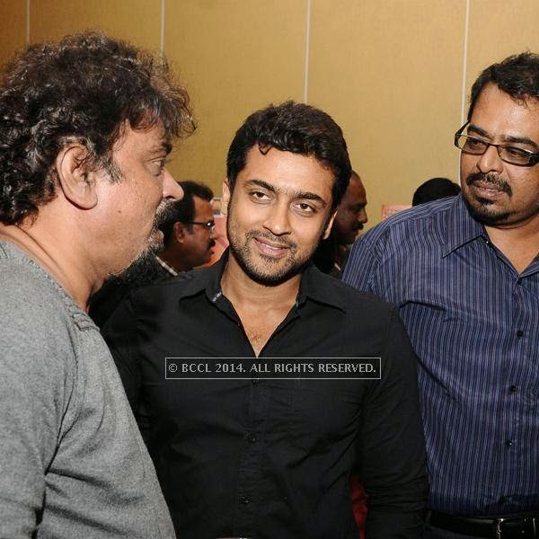 Suriya during his birthday celebration, held at The Leela Palace, in Chennai.