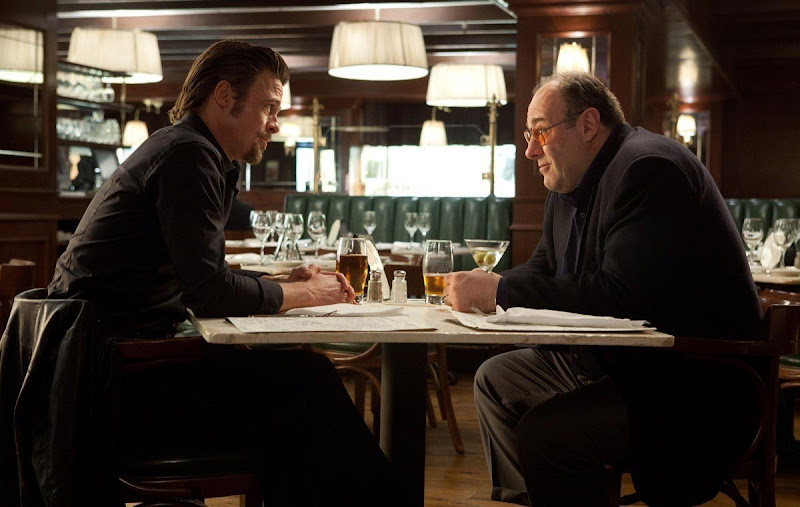 Brad Pitt and James Gandolfini in Killing Them Softly