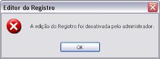Como resolver - A edição do registro foi desativada pelo administrador